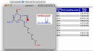 Assigned proton spectrum in NMRShiftDB