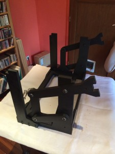Base with Cradle Base and Lever Mechanism assembled